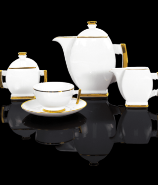 Cmielow - 1790 Glamor III - coffee service 15 - parts white / gold