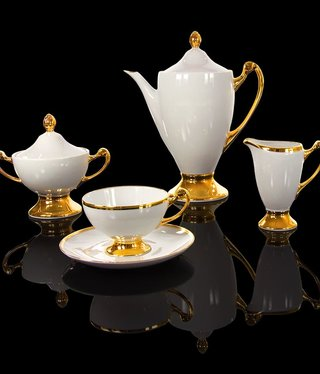 Cmielow - 1790 Glamor VII - tea service 6/15 with gold decoration