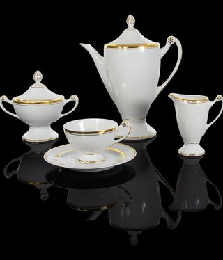 Cmielow - 1790 Glamor VIII - Tea service 6/15 with double gold rim