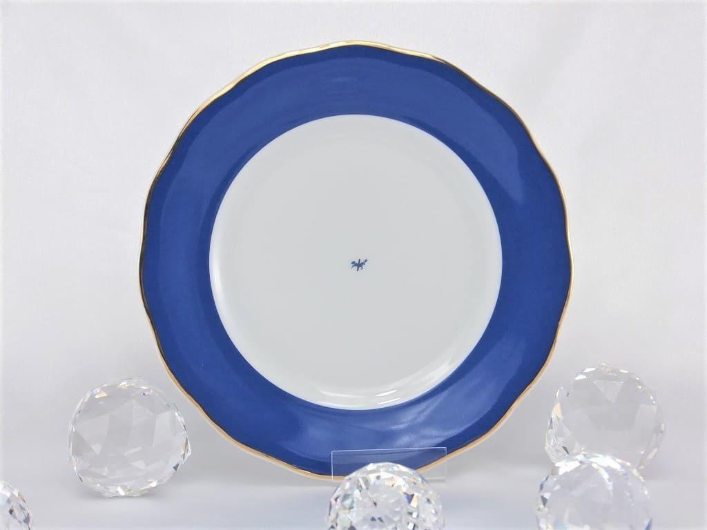 CRISTOFF -1831 Marie - Josee - Porcelain plate in cobalt blue / gold
