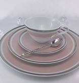 CRISTOFF -1831 Marie - Chantal - porcelain plate in rose tone
