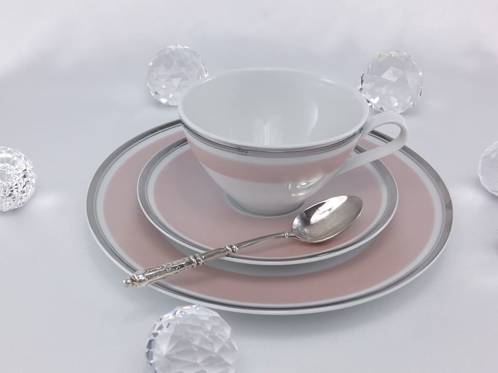 CRISTOFF -1831 Marie - Chantal - Rosé - cup and saucer