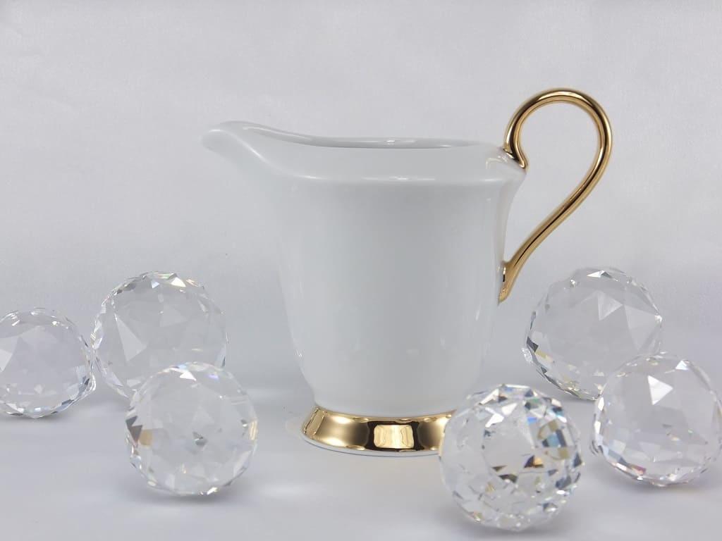 CRISTOFF -1831 Marie - Julie - Gold  ★  sugar bowl & milk can