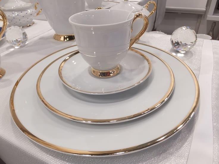 CRISTOFF -1831 Marie - Julie - Gold ★ Porcelain plate