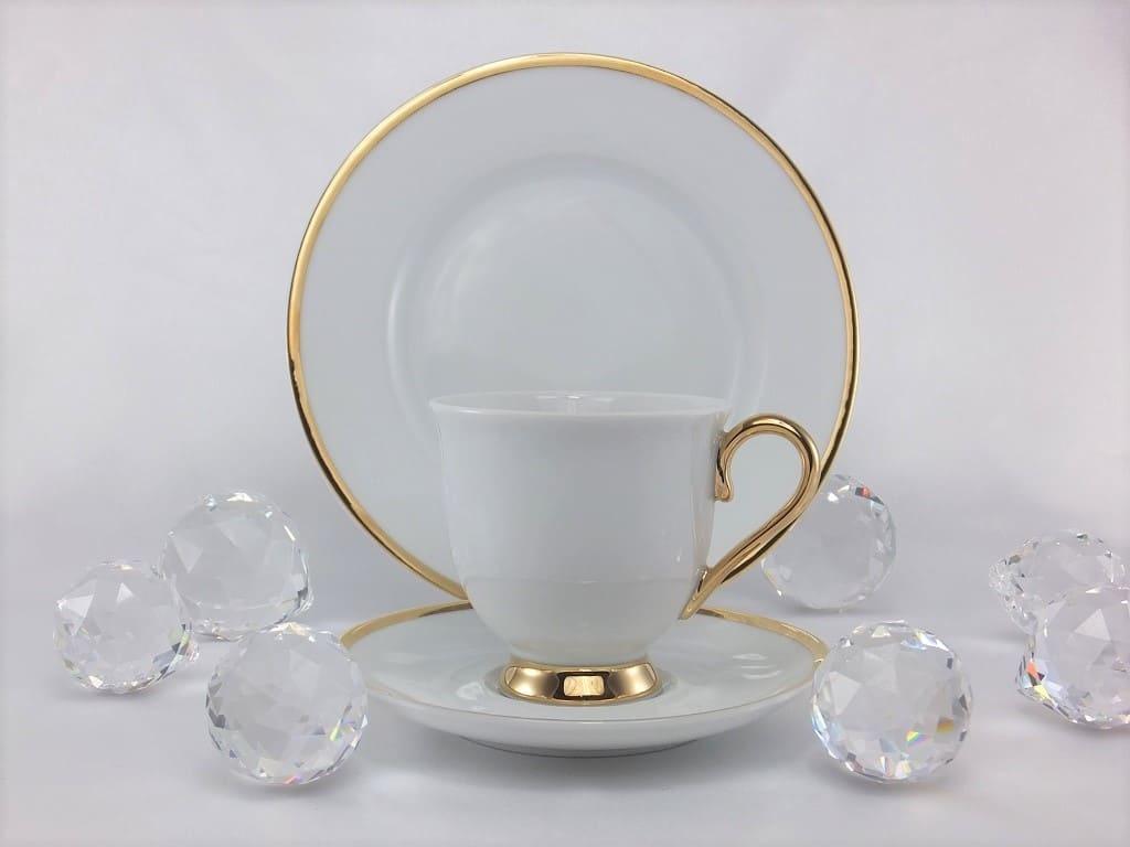 CRISTOFF -1831 Marie - Julie - Gold   ★  Porzellantasse & Untertasse