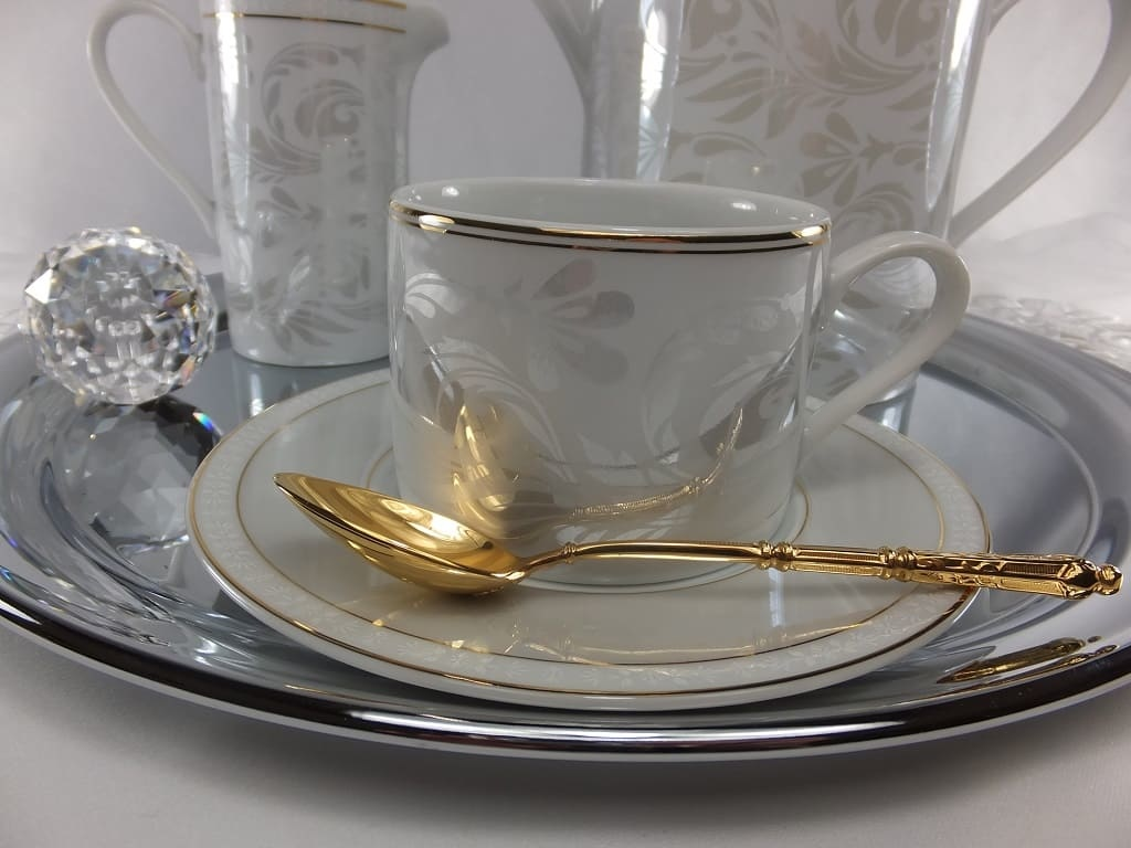 CRISTOFF -1831 Marie - Joelle - Luster coffee service for 6 persons