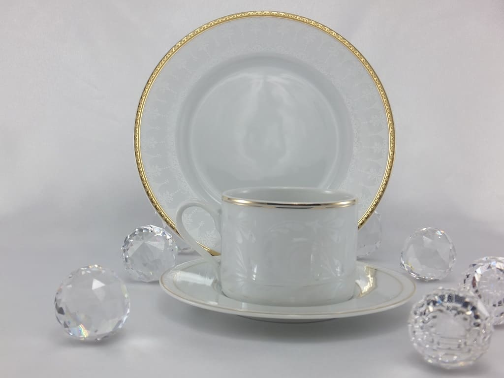 CRISTOFF -1831 Marie - Joelle - Luster Cup & Saucer