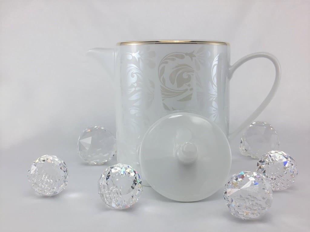 CRISTOFF -1831 Marie - Joelle - Lustre - Kaffeekanne mit Goldrand