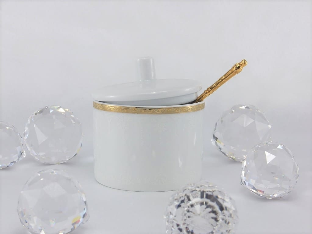 CRISTOFF -1831 Marie - Jeanne - Gold Sugar Bowl & Milk Jug