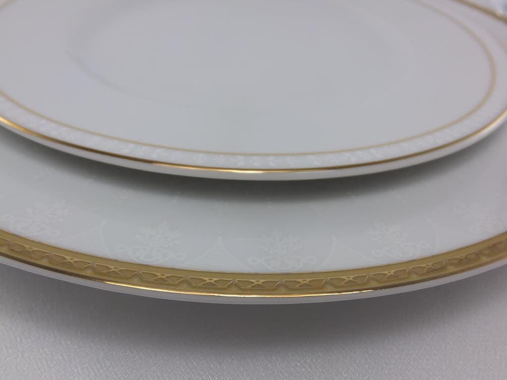 CRISTOFF -1831 Marie - Jeanne - Gold Porcelain Plate
