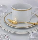 CRISTOFF -1831 Marie - Jeanne - Gold Kaffeeservice für 6 Personen
