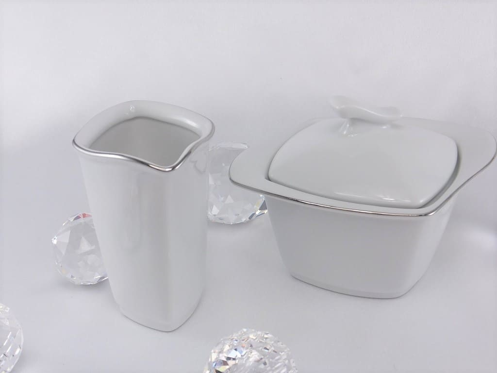 CRISTOFF -1831 Marie - Christine - Platinum Milk Jug & Sugar Bowl