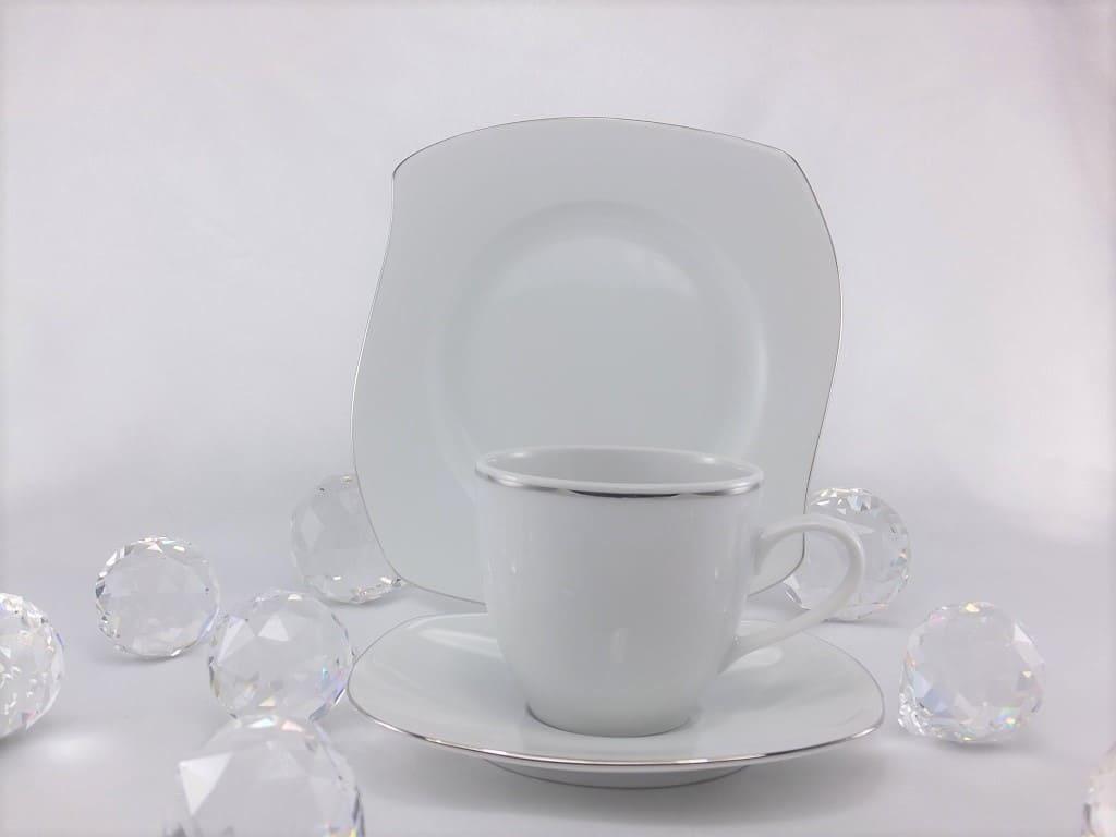 CRISTOFF -1831 Marie - Christine - Platinum - Cup & saucer