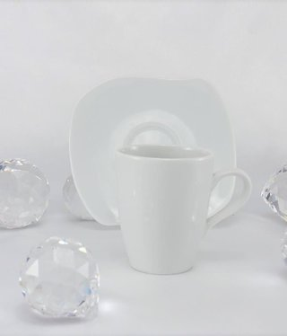 CRISTOFF -1831 Marie - Christine - white - cup & saucer