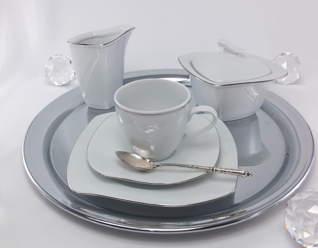 CRISTOFF -1831 Marie - Christine Platin  - Kaffeeservice für 6 Personen