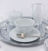 CRISTOFF -1831 Marie - Blanche - Porcelain Cups & Saucers