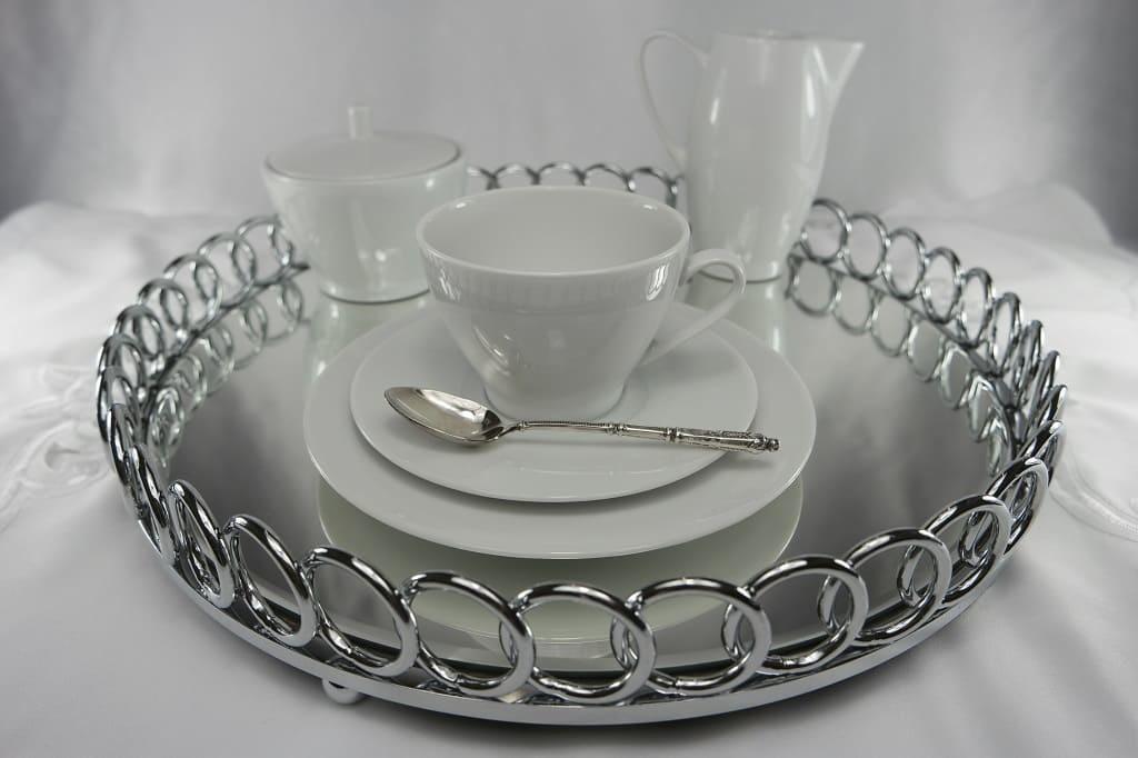 CRISTOFF -1831 Marie - Blanche  Weiß  - Kaffeeservice für 6 Personen