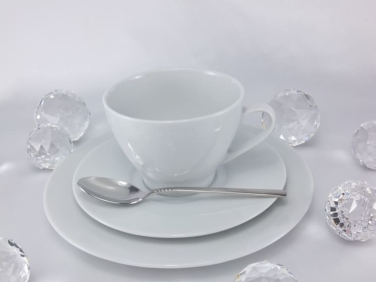 CRISTOFF -1831 Marie - Blanche White - Coffee service for 6 persons
