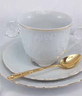 Cmielow - 1790 Marie - Luise -Gold - Tasse mit Untertasse
