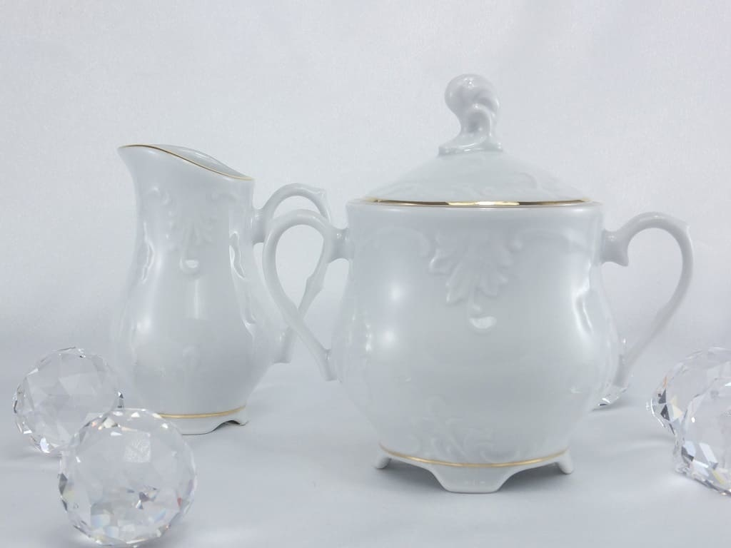 Cmielow - 1790 Marie - Luise -Gold - milk can & sugar bowl