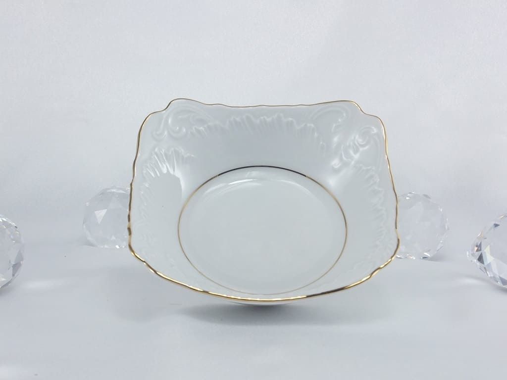 Cmielow - 1790 Marie - Luise -Gold - Schale - eckig
