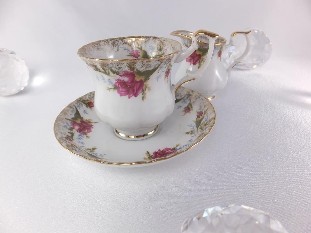 CHODZIEZ 1852 Marie -Rose - Espressotasse mit Goldrand