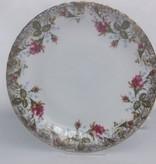 CHODZIEZ 1852 Marie Rose - dessert plate with gold rim