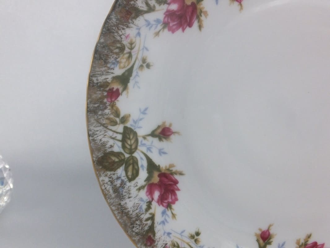 CHODZIEZ 1852 Marie Rose - Dessertteller mit Goldrand