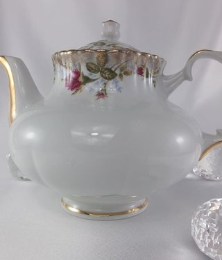 CHODZIEZ 1852 Marie Rose - teapot with gold rim