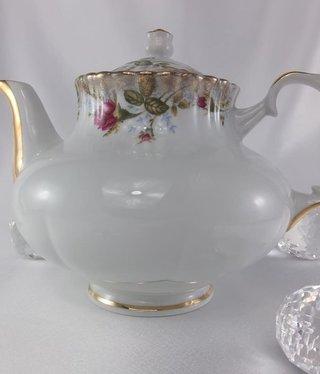 CHODZIEZ 1852 Marie- Rose - Teekanne mit Goldrand