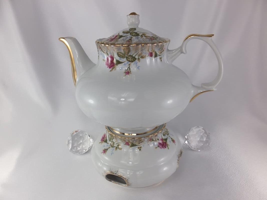 CHODZIEZ 1852 Marie -Rose - Stövchen mit Rosenmotiv und Goldrand