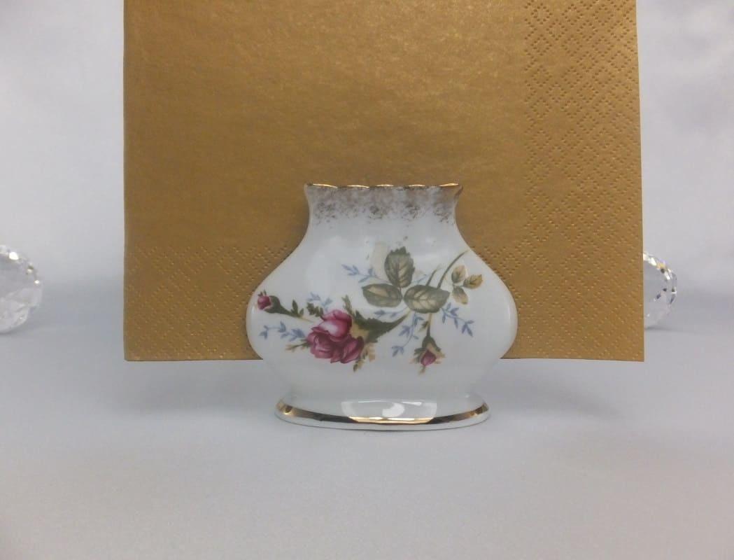 CHODZIEZ 1852 Marie - Rose - Serviettenhalter mit Goldrand