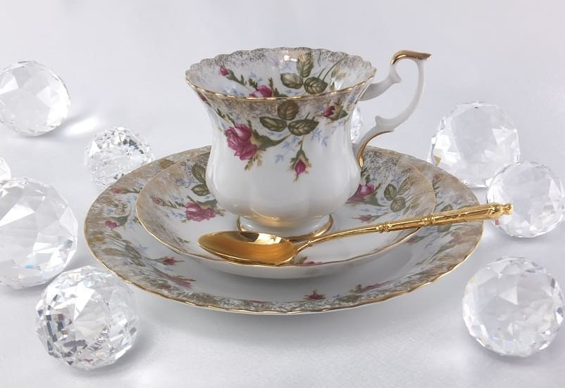 CHODZIEZ 1852 Marie -Rose - Kaffeetasse & Untertasse