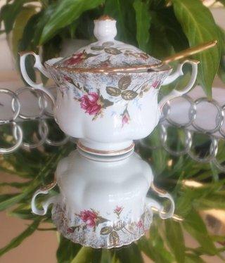 CHODZIEZ 1852 Marie - Rose - Zuckerdose