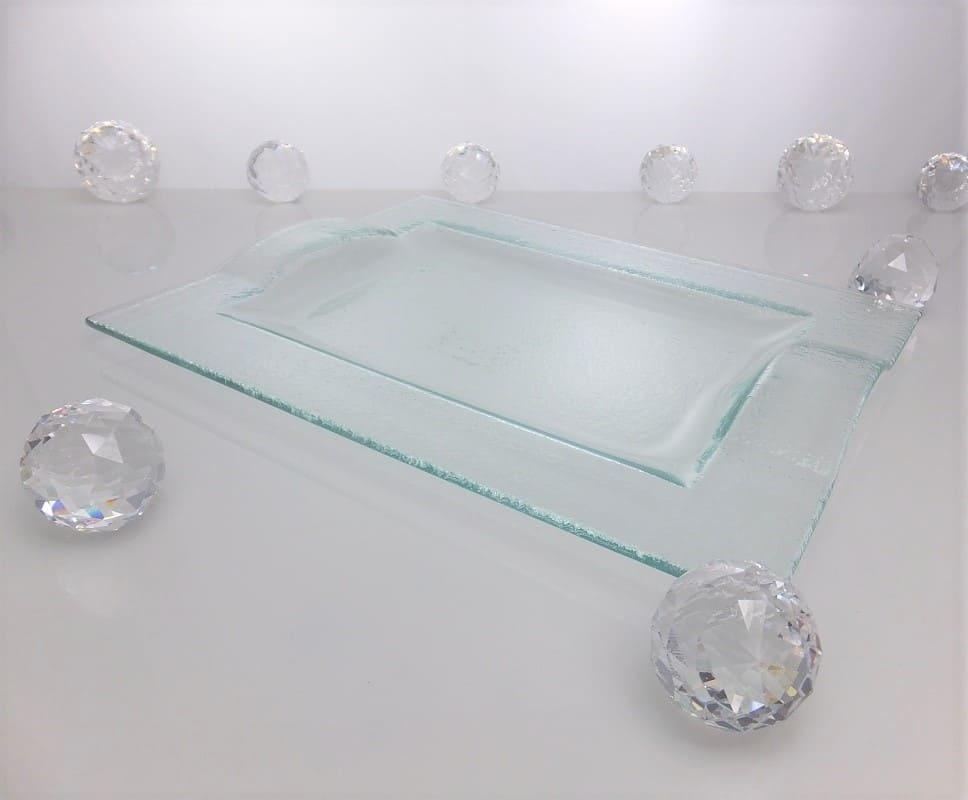 Tablett aus Glas 29 ,5 x 22, 5 cm