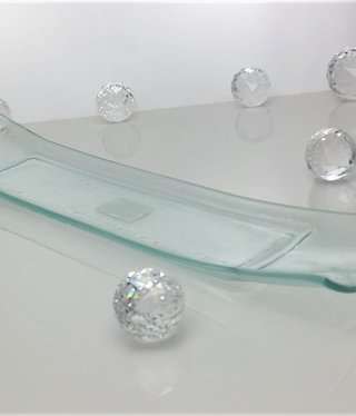 Tray - clear glass 47 x 9.7 cm