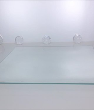 Place plate - Squared II clear glass
