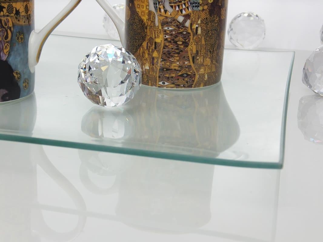 Platzteller- Squared II  aus Glas  30 x 30 cm