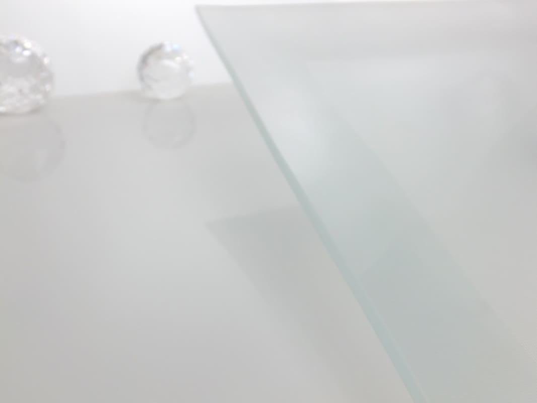 Platzteller - Squared III   aus gefrostetem Glas 30 x 30 cm