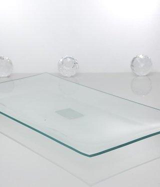 Tablett - Medium -Klarglas 34 x 17 cm