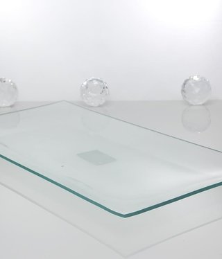 Tray - Medium clear glass 34 x 17 cm