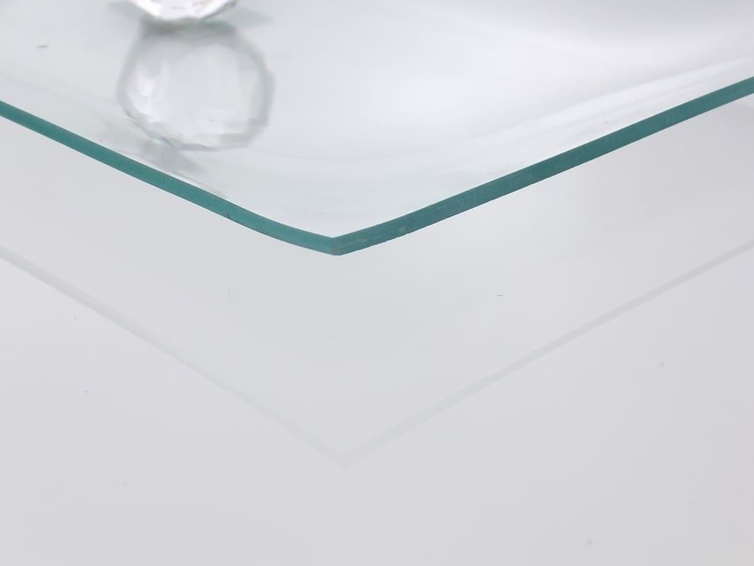 Tablett aus transparentem Glas  34 x 17 cm