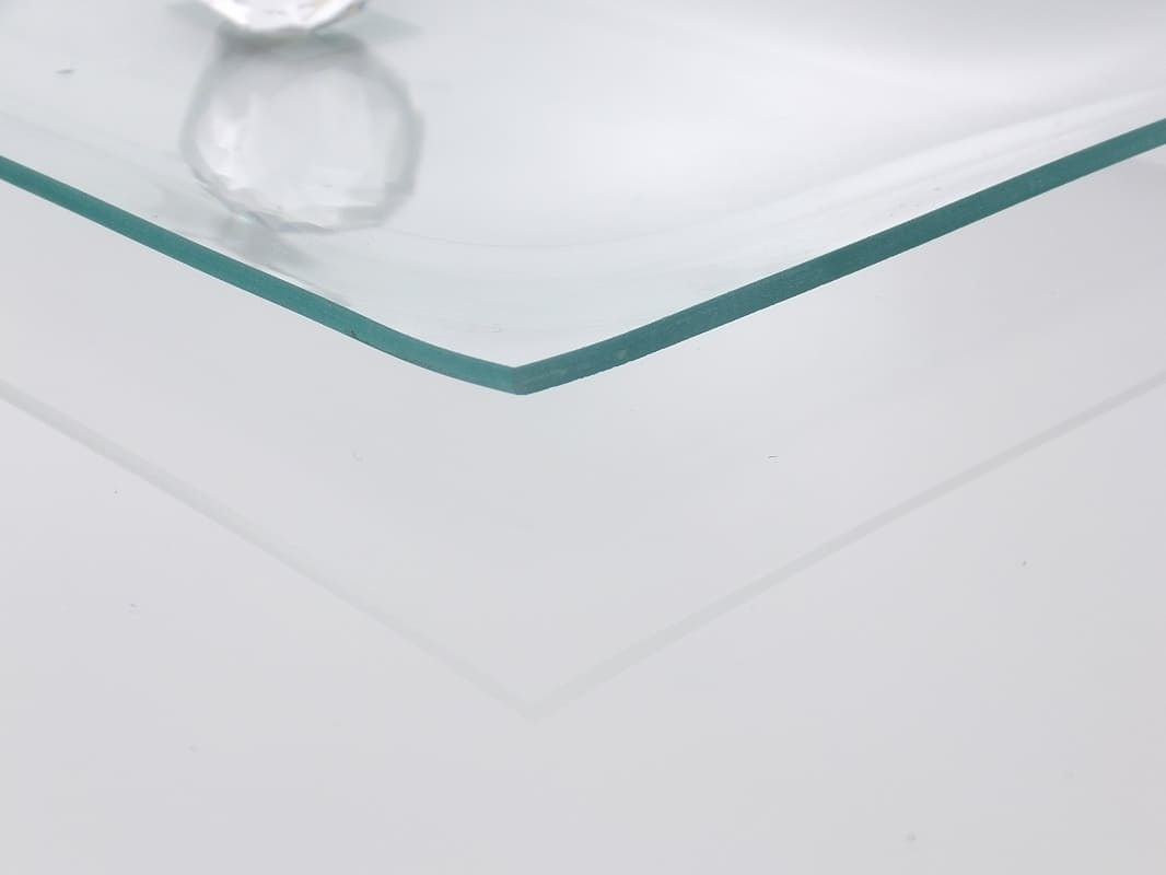 Tray made of transparent glass 34 x 17 cm