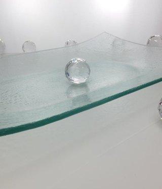 Tablett - Blasenglas43 x 29 cm