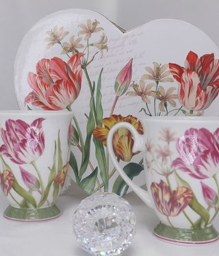 CARMANI - 1990 Coffee cups set - heart set of tulips