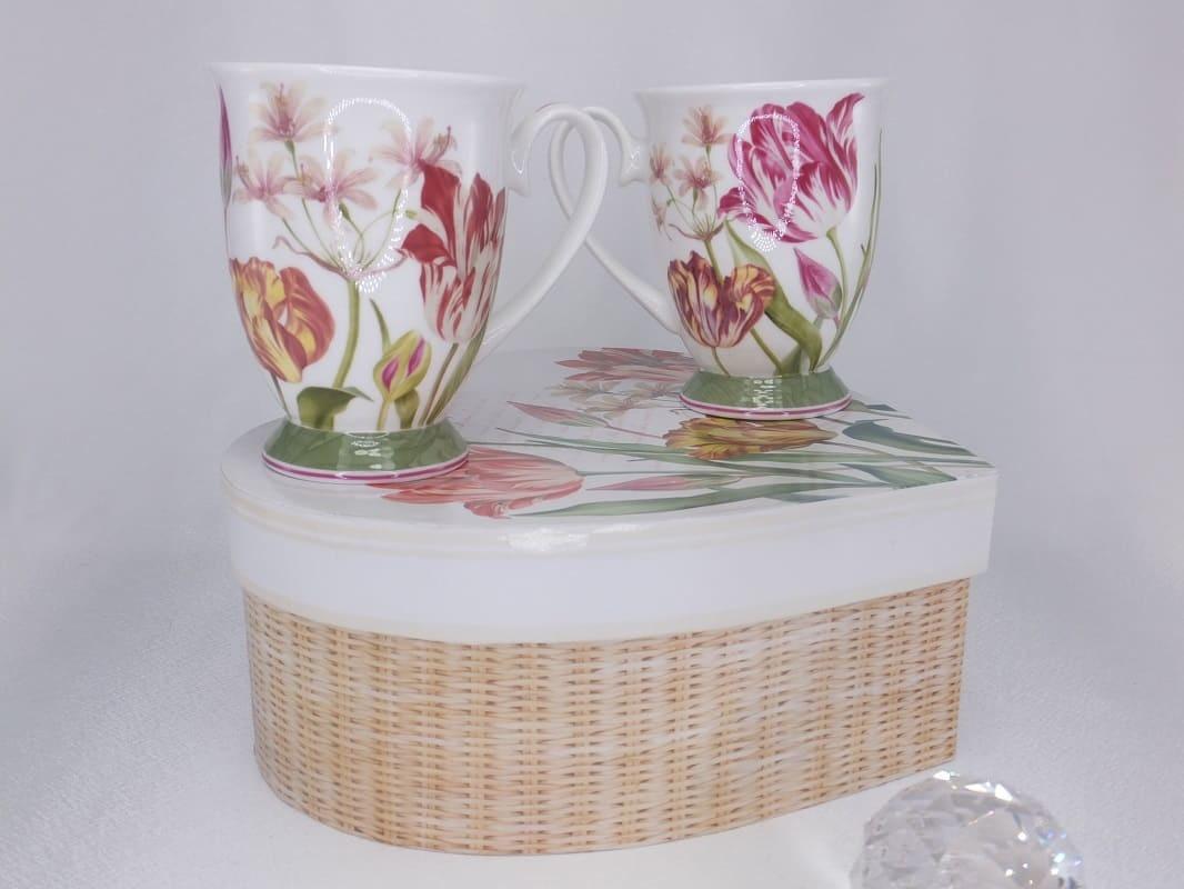 CARMANI - 1990 Coffee Cups Set - Heart - Set - Fine Bone China