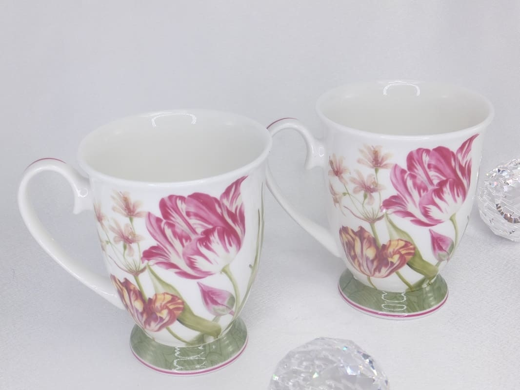 CARMANI - 1990 Kaffeetassen Set - Herz - Set - Fine Bone China
