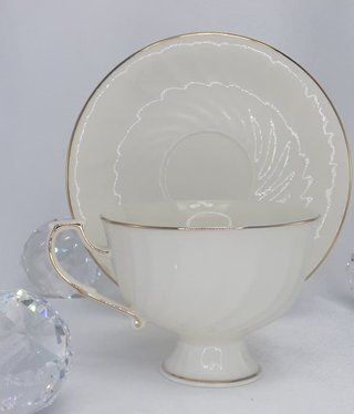 CARMANI - 1990 Teetasse - Single - Set Weiß / Gold