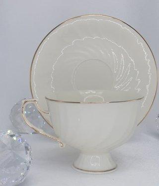 CARMANI - 1990 Teetasse - Single - Set Weiß / Gold
