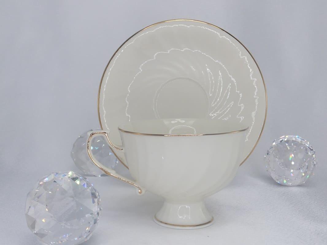 CARMANI - 1990 Teetasse - Single Set Weiß / Gold